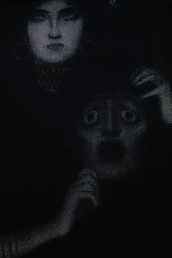Woman and ghost poster, Vienna