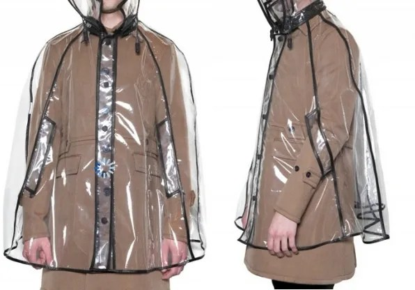 Burberry Prorsum transparent rain coat