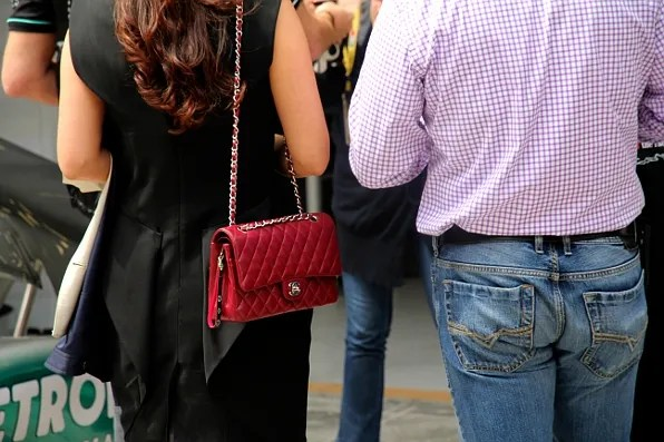 Chanel Bag spotted at Formula 1