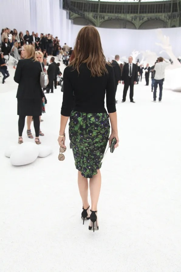 Carine Roitfeld in Givenchy at Chanel spring summer 2012 fashion show