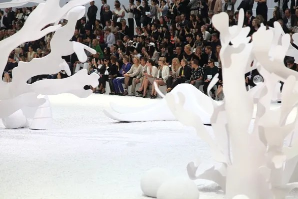 The audience at Chanel spring summer 2012