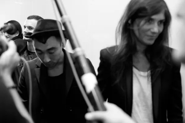 Nicola Formichetti and Emmanuelle Alt at Christian Dior Tokyo