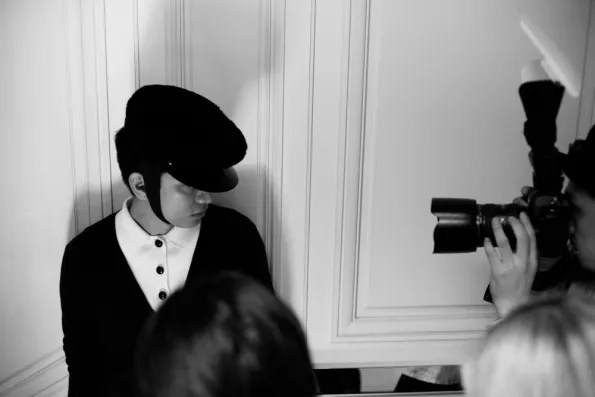 Bryanboy being photographed inside Christian Dior boutique Tokyo