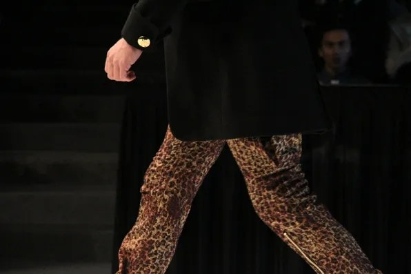 Dresscamp fall winter 2011 mens leopard print trousers