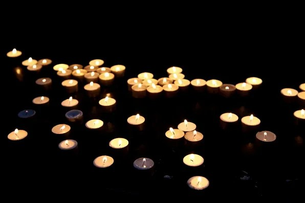 Candles inside Storkyrkan