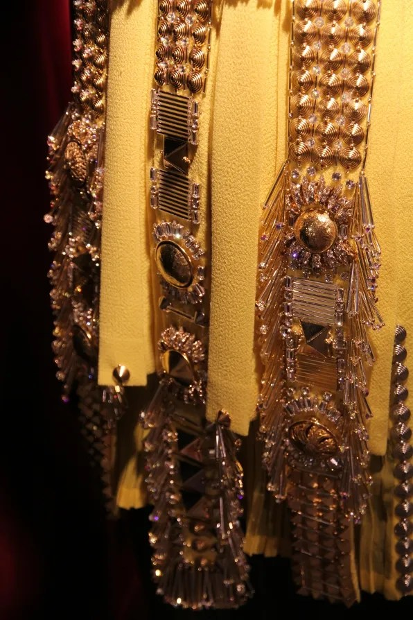 Fausto Puglisi fall winter 2011 yellow dress close up