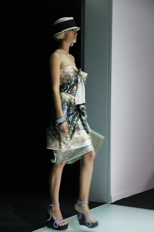 First Look - Emporio Armani Spring Summer 2012 - Look 2