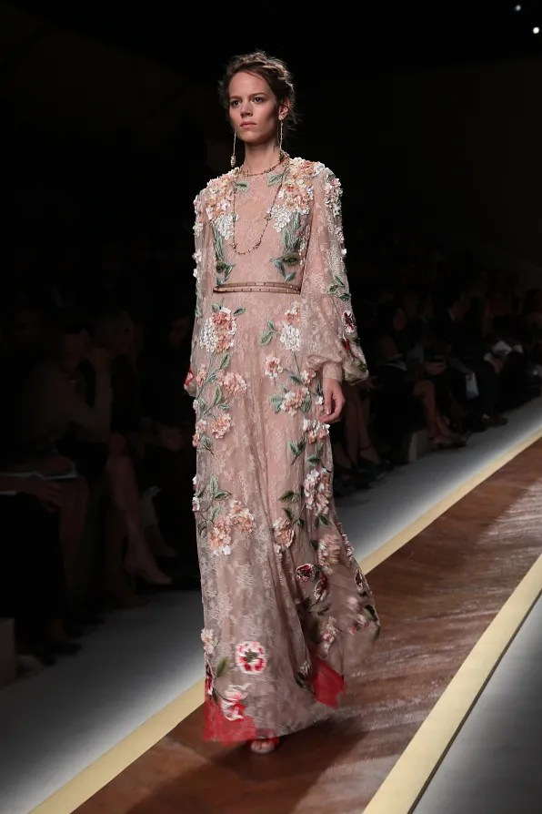 First Look - Valentino spring/summer 2012 embroidered floral dress