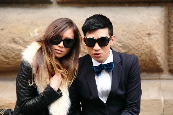 Rumi Neely and Bryanboy in Florence, Italy