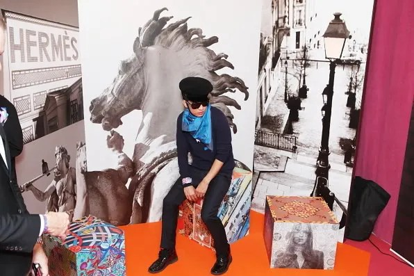 Bryanboy at Hermes pop-up studio