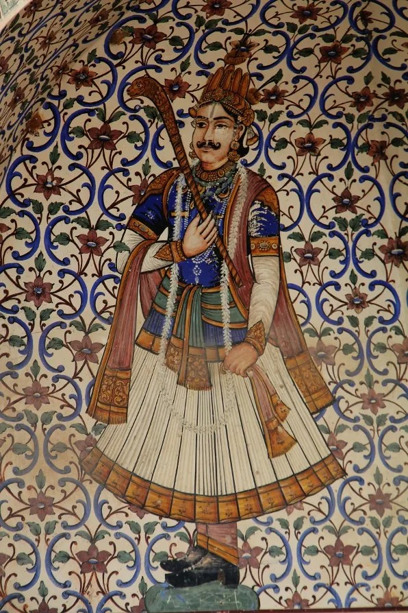 Restaurant mural in Jaipur