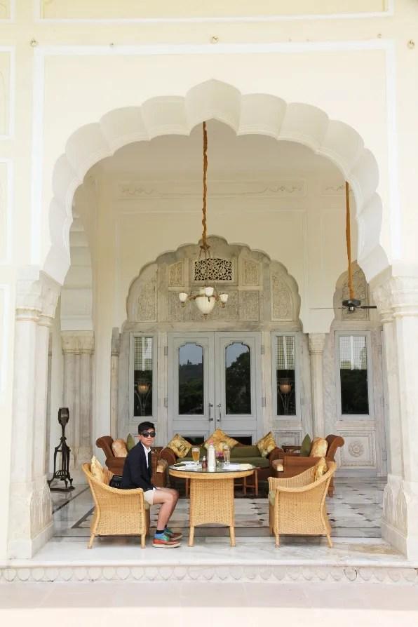 Verandah Cafe, Rambagh Palace Jaipur
