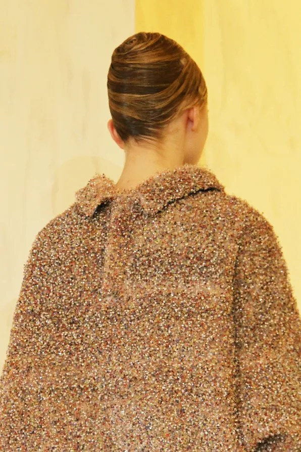Back of a coat from Jil Sander Fall Winter 2011 2012 collection