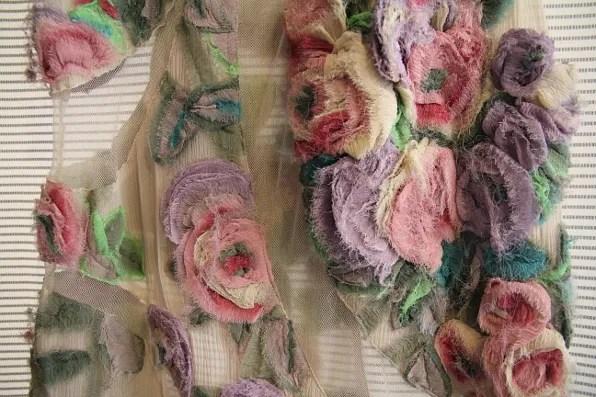 Details of floral Kenzo dress spring summer 2011
