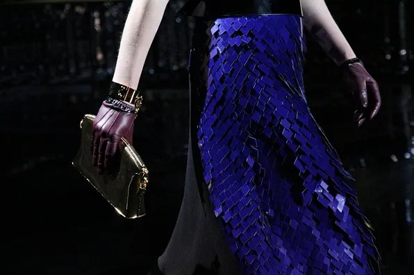 Blue sequin fall winter 2011 Louis Vuitton skirt