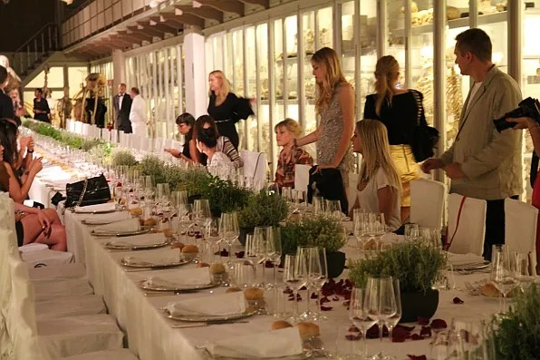 Guests attending the Luisa Via Roma Firenze4Ever dinner