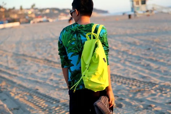 Neon Yellow Backpack