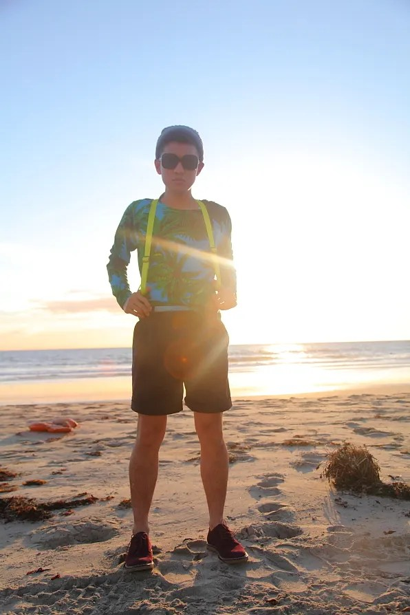 Bryanboy visiting Zuma Beach in Malibu, California