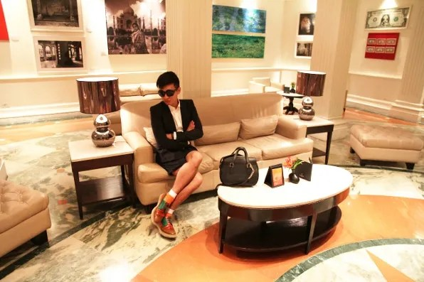 Incredible India - Bryanboy at the lobby of Claridges Hotel, New Delhi