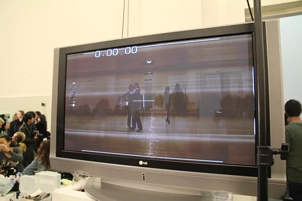 Television screen at Prada fall 2011