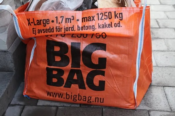 Big Bag on the streets of Stockholm