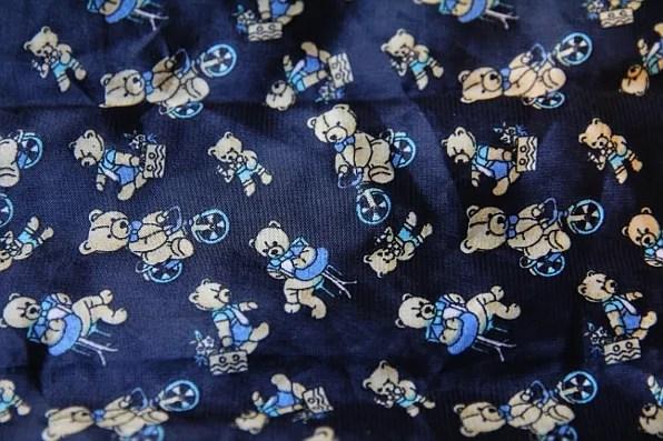 teddy bear pattern print on a scarf