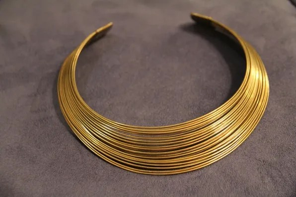 Gold wire necklace from New Delhi, India