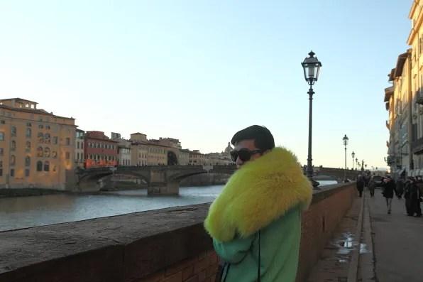 Florence sunset overlooking Ponte Santa Trinita, Firenze
