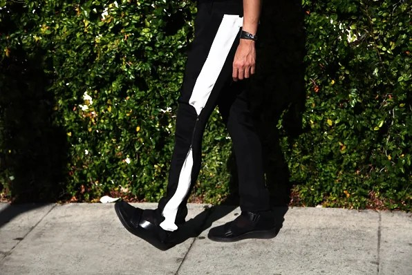 3.1 Phillip Lim silk pants with white side panels