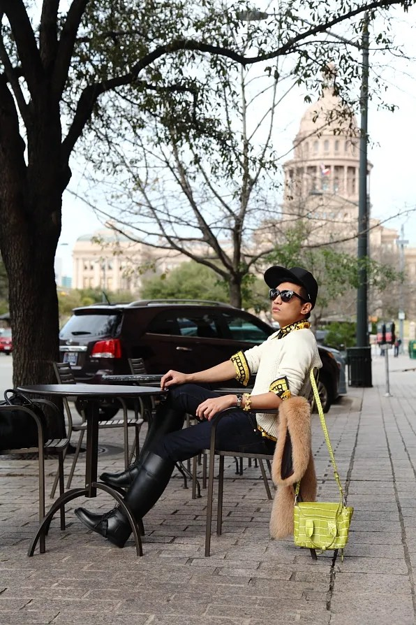 Bryanboy in Austin, Texas visiting Texas State Capitol