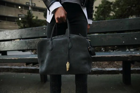 Balmain Pierre bag in gray suede