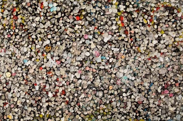 Berlin Wall covered in chewing gum
