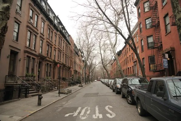 A quiet street at Brooklyn Heights, New York
