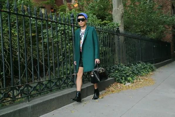 Bryanboy walking around Greenwich Village