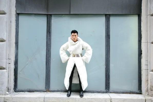 Maison Martin Margiela x H&M collaboraton comforter coat