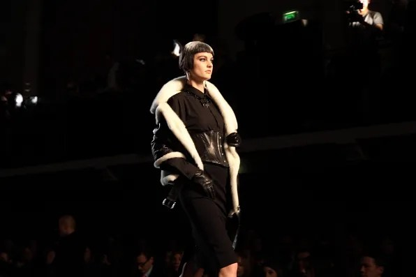 Patricia van der Vliet at Jean Paul Gaultier Fall Winter 2012 fashion show