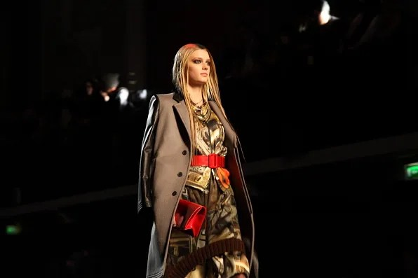 Sigrid Agren at Jean Paul Gaultier Fall Winter 2012 fashion show
