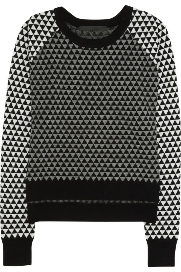 KARL by Karl Lagerfeld geometric sweater