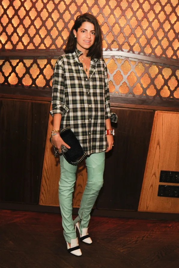 Leandra Medine aka Manrepeller at Balmain x Vogue dinner in Harlem