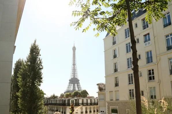 Eiffel Tower in Paris from Palais Tokyo