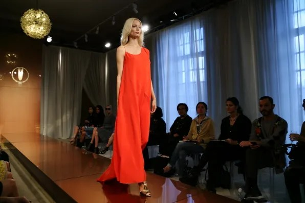 A red dress from Vionnet spring summer 2013