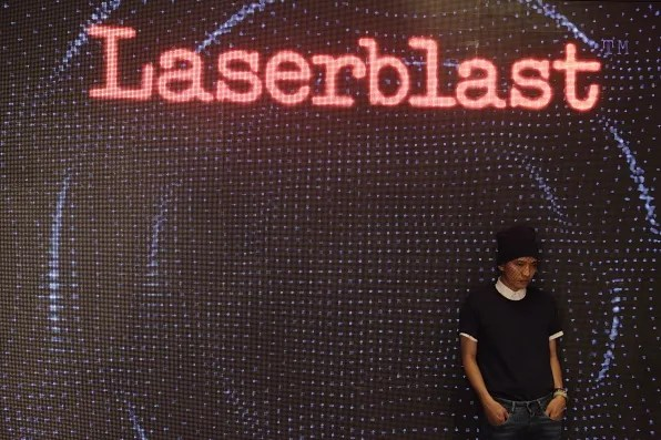 Bryanboy at Replay Laserblast launch in Milan