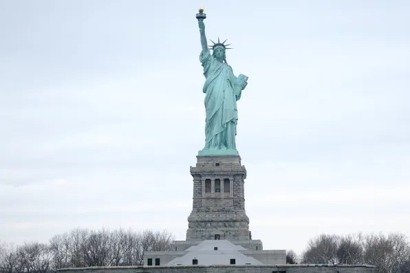 View of Statue of Liberty from Spirit of New York