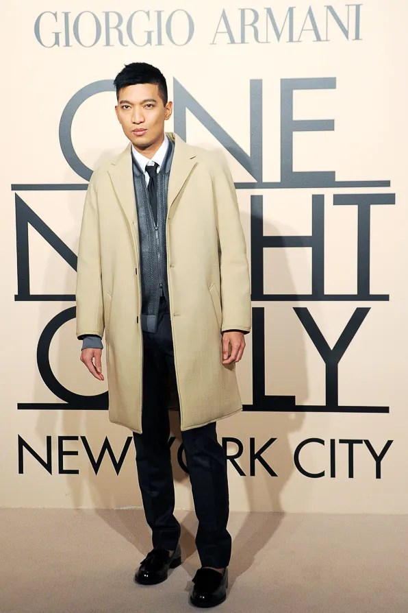 Fashion blogger Bryanboy at Giorgio Armani One Night Only New York City event