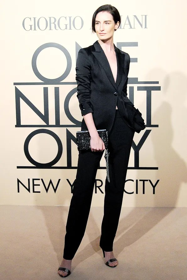 Model Erin O'Connor at Giorgio Armani One Night Only New York City event