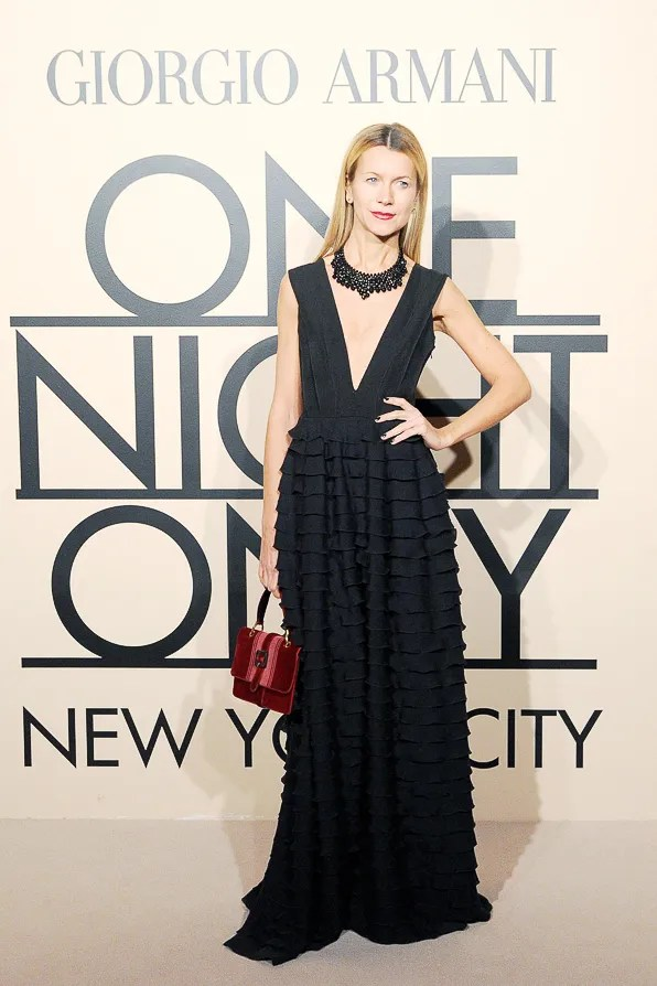 Natalie Joos at Armani One Night Only NYC event