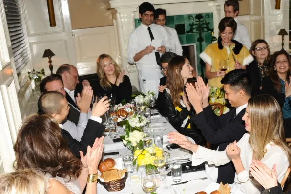 Bryanboy clapping for Jason Wu at Beatrice Inn