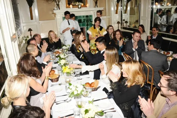 Guests at Beatrice Inn for Cindi Leive's dinner for Jason Wu