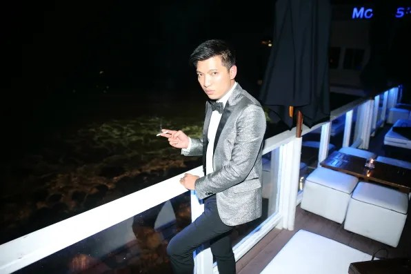 Bryanboy at Moonshadows Malibu for his 31st birthday.