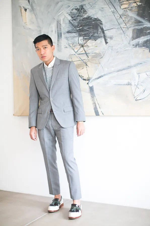 Gray suit by Calvin Klein